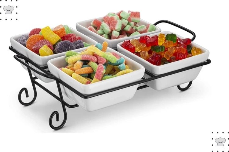 4 Piece Serving Set For Candies, Nuts