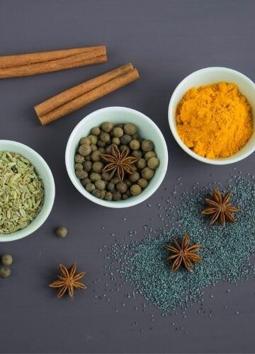 various spices on table