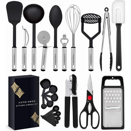 23pcs Nylon Cooking Utensils Set made by Home Hero