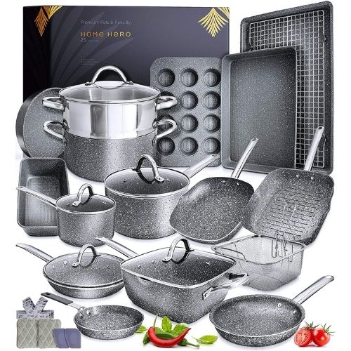 Home Hero Granite Cookware Set