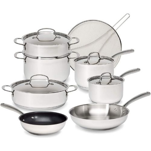 Goodful Classic Stainless Steel 12-Piece Cookware Set